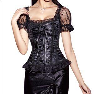 Vintage Gothic Lolita Bust Waist Trainer Corset